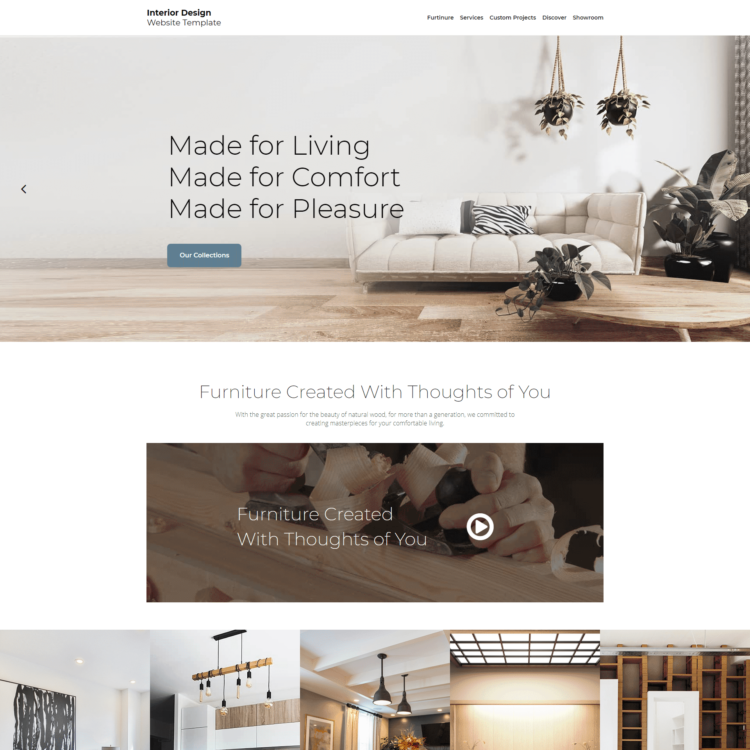 Interior Design Website Template | 1
