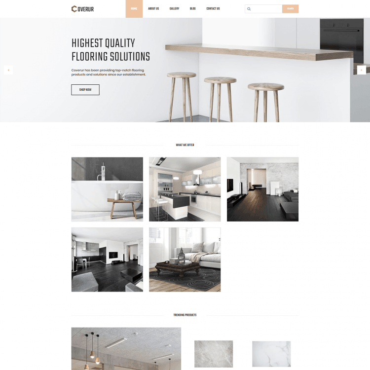 Go Edit Multi page website template for Interior designer or architect