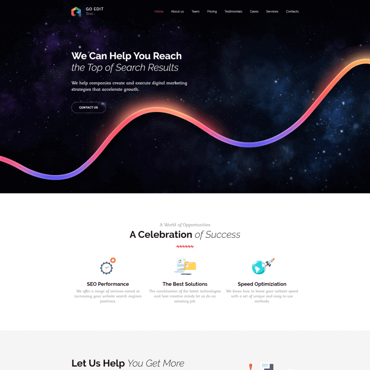 Go Edit Responsive design Multi page website template
