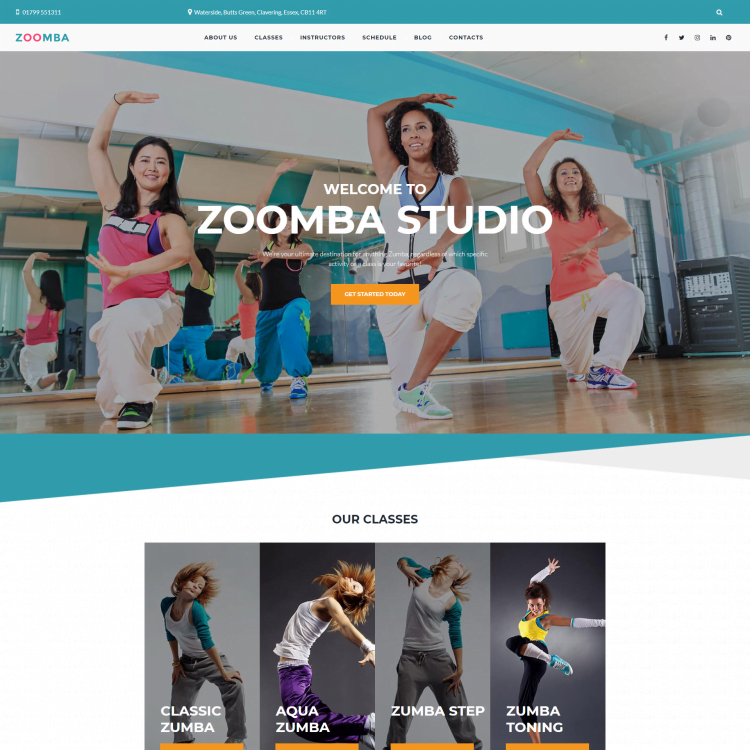 Go Edit Multi page website template for a dance studio