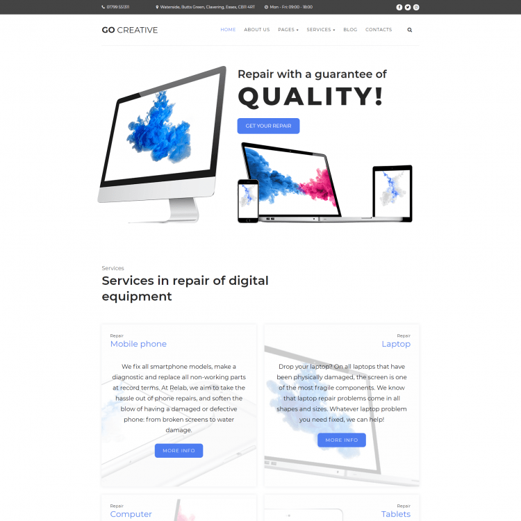 Computer Repair Website Template |  1