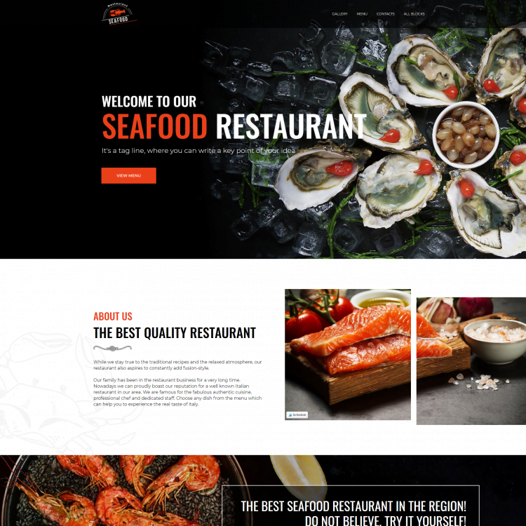 Restaurant Single Page Website