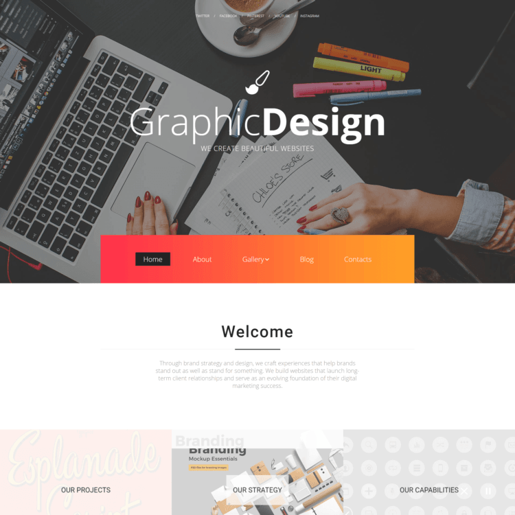 Graphic Design Website Template |  1