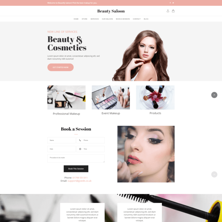 Cosmetics ecommerce template
