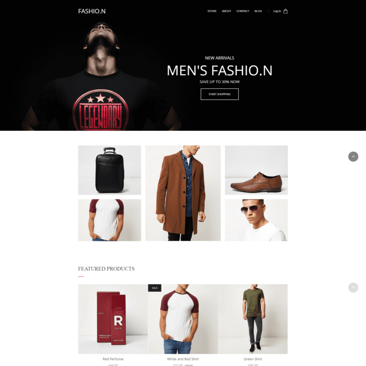 Fashion ecommerce website template