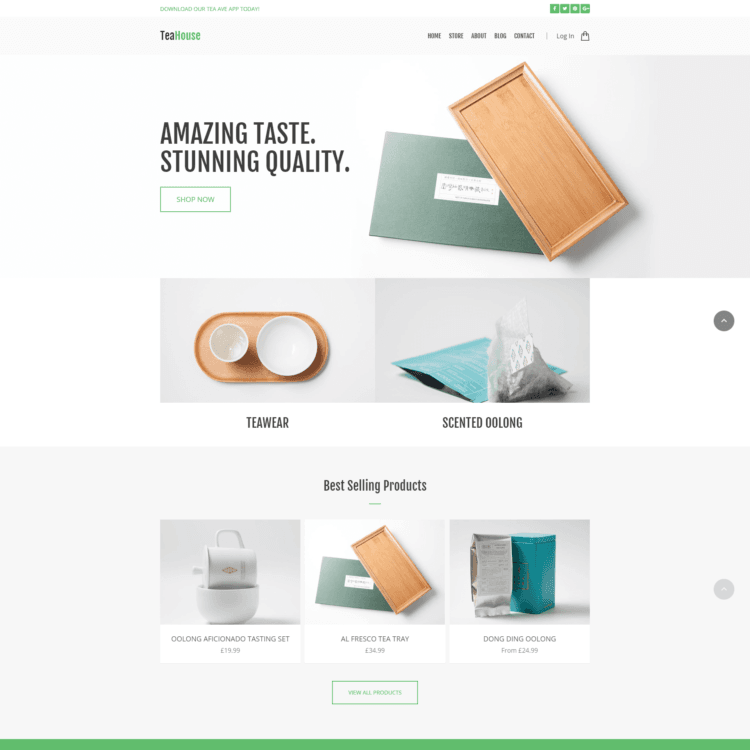 Tea House ecommerce website template