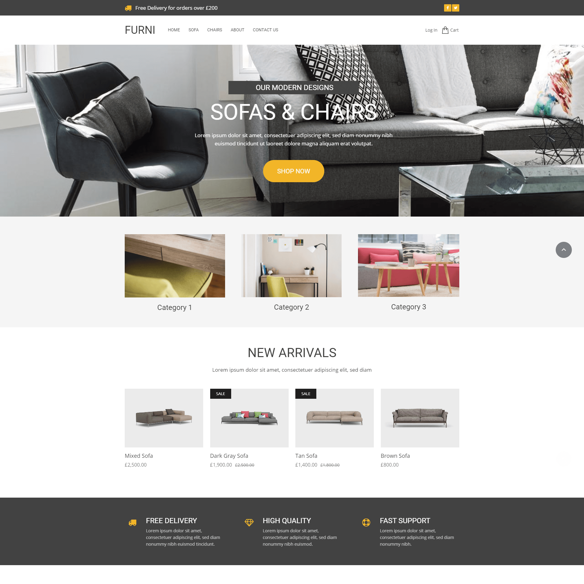 Furniture Ecommerce Website Template