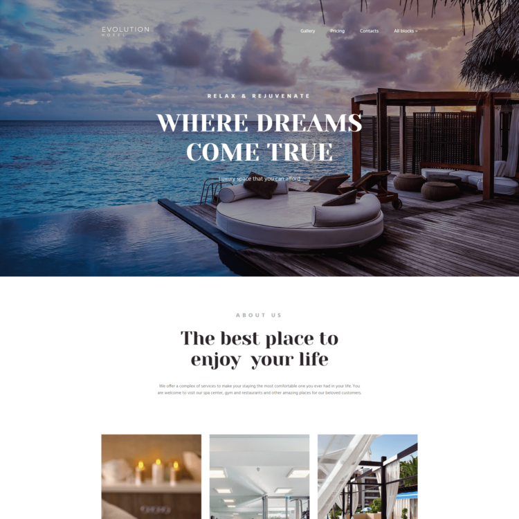 Free Website Builder Template Hotel |  1