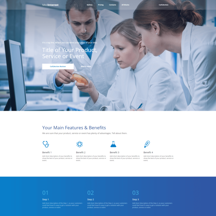 Medical Website Template |  1