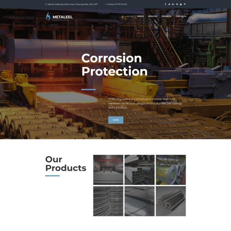 Industrial Website Template |  1